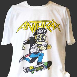 ANTHRAX HARDCORE PUNK ROCK METAL T-SHIRT unisex white S-3XL
