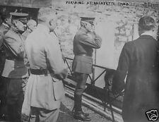 """US Army General John Pershing at Lafayette's Tomb World War 1, 5x4"""" Photo a"""