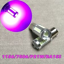 Front Turn Signal bulb 1156 BA15S 7506 3497 P21W 33 SMD LED Purple Pink W1 JAE