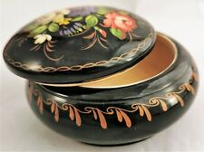 Box Russian Lacquer Vintage Jewelry Hand Painted Trinket Gift Signed Wood Art