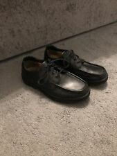 Clarks Black Leather Cushion Cell Extra Wide Fit Mens Shoes Size 7.5
