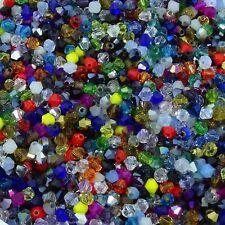 1000 Abalorios Tupis 4mm Bicone Colores Variados Perline Cristal Beads AB Bicone