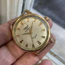 Gents Longines Conquest 9002 Rose Gold Filled Enamel Screw Back Automatic 1950s