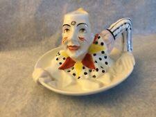 Vintage German Jester Porcelain Candle Stick Holder Unique