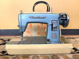 Vintage Brother Heavy Duty Steel Nippon Japan Industrial Blue Sewing Machine