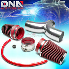 FOR DODGE SUV/PICKUP TRUCK 3.7/4.7 V8 SHORT RAM DUAL INTAKE PIPE+RED AIR FILTER
