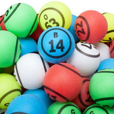 1.5-Inch Pro Ping Pong Size Replacement Bingo Ball Set(5 Colors - Double Number)