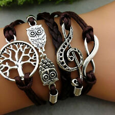 Best Tree Of Life - Owl - Music Symbol Bracelet Braid Bracelet Multi-layer