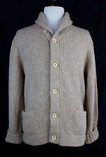 Polo Ralph Lauren Oatmeal Pure Cashmere Shawl Collar Chunky Knit Cardigan XXL