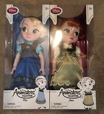 Disney Store Disney Animators Collection Elsa & Anna Dolls