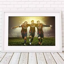 NEYMAR SUAREZ MESSI - Soccer Poster Picture Print Sizes A5 to A0 **FREE DELIVERY