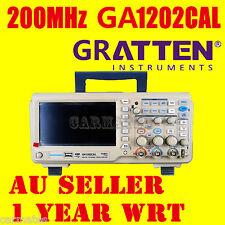 "ATTEN OSCILLOSCOPE Scope GA1202CAL 200MHz 2Ch 1GS/s 7"" LCD Screen USB METER AU"