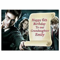 509 Harry Potter Personalised Any age e.g. 3rd 4th 5th 6th 7th 8th 9th 10th 11th