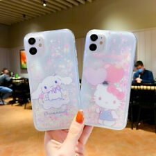 Cute Hello Kitty Dog Quicksand Girls Phone Case Cover For iPhone 12 XR 7 8 11 XS
