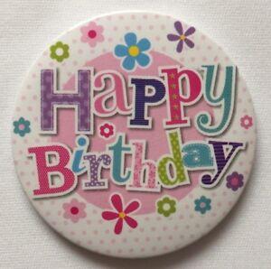 Happy Birthday Badge Small Badge With Plastic Clip Birthday Celebration Party