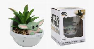 "DISNEY STAR WARS Mandalorian THE CHILD 4"" Ceramic (with faux succulent) Planter"