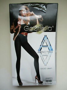 GABRIELLA ARCTIC LADIES WINTER TIGHTS 500 DENIER GREY LARGE BRUSHED WOOL NEW