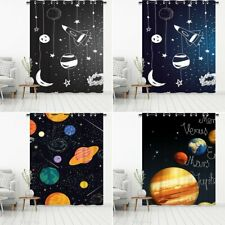Blackout Curtains Eyelet Thermal Ring Top Curtains Planet Print Kids' Room CN