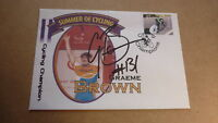 AUSTRALIAN ROAD CYCLING CHAMPION GRAEME BROWN HAND SIGNED SOUVENIR COVER