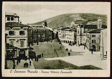 cartolina SAN SEVERINO MARCHE piazza vittorio emanuele