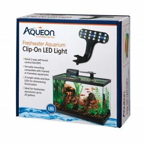 Aqueon Freshwater Aquarium Clip-On LED Light-New!