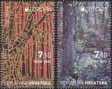 Croatia 2011 Europa/Forests/Trees/Nature/Conservation/Art 2v set (n44786)