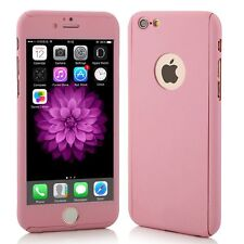COVER CASE CUSTODIA 360° FULL BODY VETRO TEMPERATO per IPHONE 5S SE 6 6s 7 plus