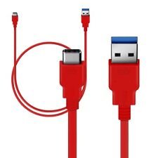Lenovo Zuk Z1 Nokia N1 Tablet Type C (USB-C) (USB-A) Red Cable (1M) by Orzly®