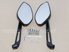 Black Motorcycle CNC Metal Rearview Side Mirrors For BMW Ducati Aprilia Suzuki