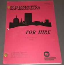"SPENSER: FOR HIRE - ORIG. TV SCRIPT ""NO ROOM AT INN"" - PINK FINAL - XF!"