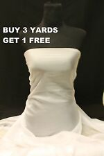 Premium Plain White Crepe Chiffon Georgette Dress-Making Crafts Fabric Material