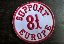 """HELLS ANGELS Support 81 Patch  Aufnäher """"SUPPORT 81 EUROPE"""" rund P17"""