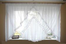 neuf prêt à l'em Ploi Rideau de fenêtre VOILE FILET 150 x 400 cm blanc AG12 d