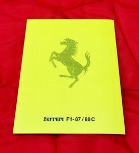 Ferrari Brochure Press Release F1-87/88C - Berger/Alboreto & Enzo - Italian Text