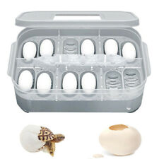 Snake Bird Egg Hatcher Box 12 Grid Reptile Eggs Incubator Tray Lizard Gecko Case