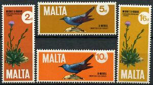 Malta 1971 SG#456-459 National Plant & Bird MNH Set #E10681