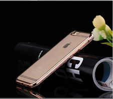 Luxury Glitter Crystal Diamond Bumper Soft TPU Case Cover For iPhone 5 6 6s Plus