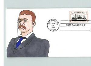 REMEMBER the MAINE, Hand Painted Theodore Roosevelt, # 1 of 1 made, Key West, Fl