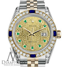 Rolex 36mm Datejust 2 Tone Dial with Sapphire & Diamond Bezel Unisex Watch