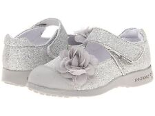 Silver Mary Jane Shoes  by Pedipeds   Little Girls Size  9 - 9 1/2