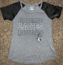 Great Lakes Loons Shirt S/S Womens Large Midwest League Jan sport EUC