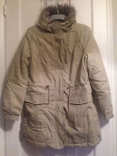 Ladies Stone Parka Coat With Fur Trimmed Hood Size 10/12