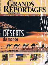 Grands Reportages - N°309 - Oct 2007 - Special deserts du monde