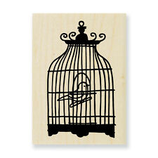 STAMPENDOUS RUBBER STAMPS FRILLY BIRD CAGE STAMP