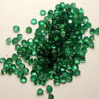 2x Smaragd - Rund facettiert Grün SI 1,5mm  (0938)