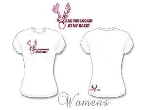 Womens  Are you looking at my rack T shirt,Huntress t shirt,bow hunter,bear,deer