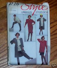 Style 4776 Women's Dress Coat Skirt Tunic Pants Vintage Pattern SZ 10 - 14
