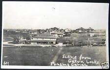 1900's Panama Canal - Gatun Locks ~ Rr Station ? ~ Rppc