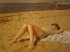 VINTAGE AMERICAN BEAUTY REDHEAD BEACH BIKINI BOTTOM TOES SUMMER OF 69 1969 PHOTO