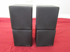 NEW (2) Dual Cube Speakers.Home Theater Rear Black Surround Sound Stereo Pair